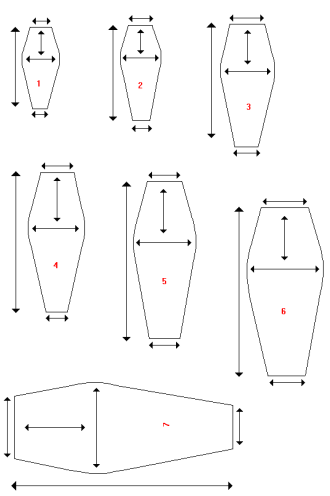 Coffin templates